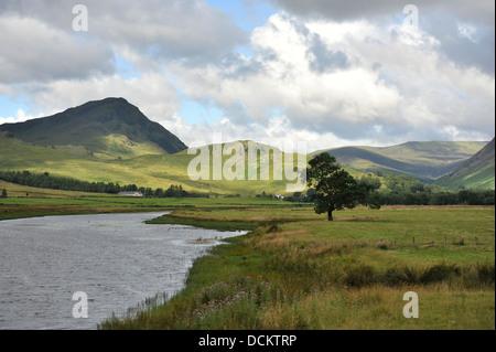 river Tay in Glen lyon Scotland - Stock Photo