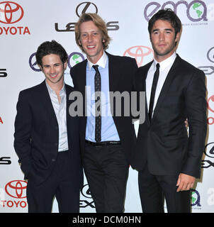 Connor Paolo,  Gabriel Mann and Joshua Bowman The 2011 Environmental Media Awards held at the Warner Brothers Studio - Stock Photo