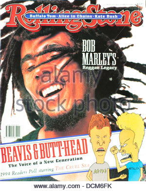 Rolling Stone Magazine - April 1995, Bob Marley - Stock Photo