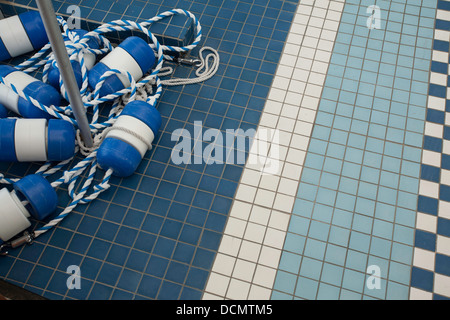Lively Patterns Of An Indoor Swimming Pool Tiled Floor