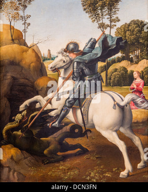 16th century  -  Saint George and the Dragon, 1506 - Raphael Philippe Sauvan-Magnet / Active Museum - Stock Photo