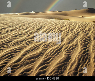 USA - COLORADO: Rainbow at Great Sand Dunes National Monument - Stock Photo