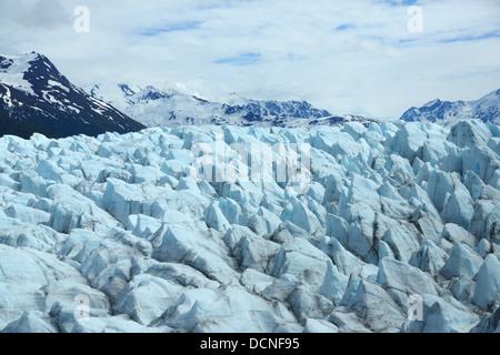 Glacier at Inner Lake George near Anchorage, Alaska - Stock Photo