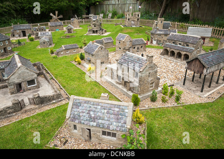 Great Britain, England, North Yorkshire, Hutton-le-Hole, Ryedale Folk Museum. model village - Stock Photo