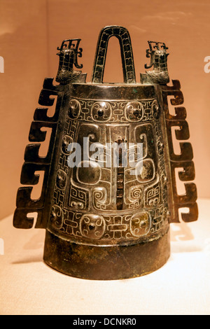 Bronze bell, Shang dynasty, 13th-12th century B.C.