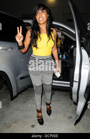 Melanie Fiona  arrives at Gulfstream Casino to perform during the inaugural 'Walk A Mile In Her Shoes Cocktail Party' - Stock Photo