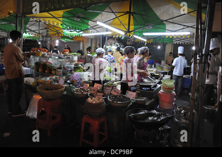 Night market in Ho Chi Minh CIty (Saigon), Vietnam. - Stock Photo