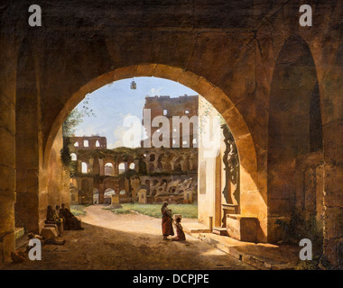 19th century  -  Inside View of the Colosseum in Rome, 1804 - Marius Granet Philippe Sauvan-Magnet / Active Museum - Stock Photo