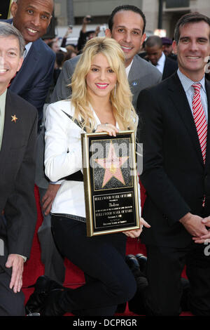 LOS ANGELES - NOV 8:  Shakira at the Hollywood Walk of Fame Ceremony bestowing a star on Shakira at W Hollywood - Stock Photo