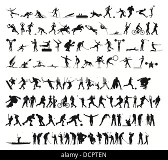 sports silhouettes vector - Stock Photo