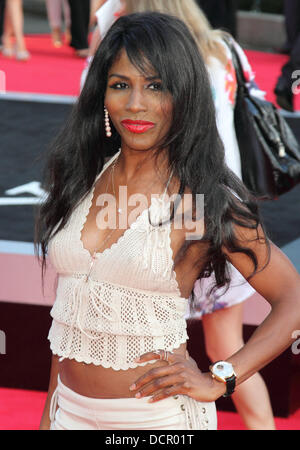 London, UK. 20th Aug, 2013. Sinitta at the World Premiere Of 'One Direction This Is Us' at the Empire, Leicester - Stock Photo