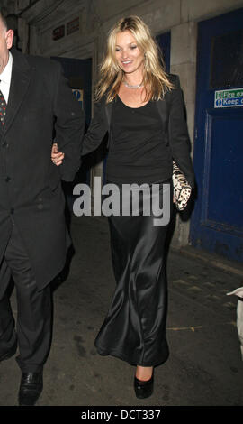 Kate Moss leaving Cafe de Paris after attending the Hoping foundation benefit evening London, England - 21.11.11 - Stock Photo