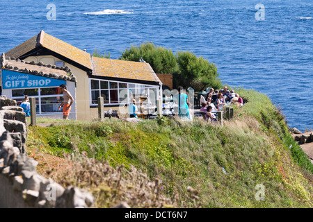 The Lizard Peninsula, Cornwall England UK. Polpeor cafe - Stock Photo