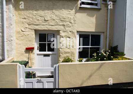 St Ives a seaside destination in Cornwall, England  UK A cottage in the Digey - Stock Photo