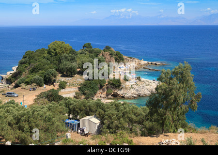 Kanoni Beach Kassiopi Corfu - Stock Photo