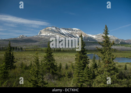 SOFA MOUNTAIN WATERTON LAKES NATIONAL PARK ALBERTA CANADA - Stock Photo