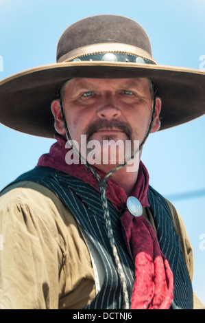 Portrait of a cowboy at the Western Days Parade, Lakeside, California, USA - Stock Photo
