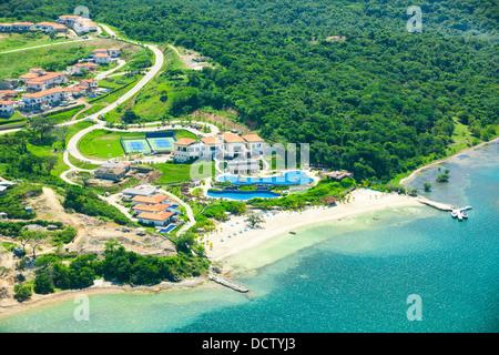 Pristine Bay Resort aerial view - Stock Photo