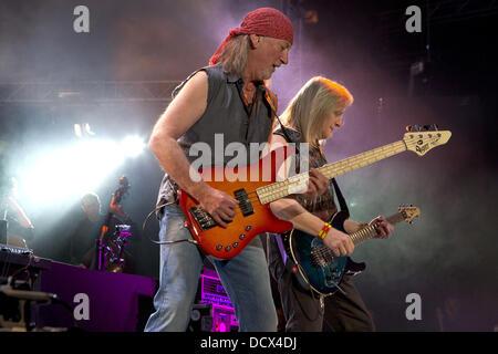 Roger Glover and Steve Morse Deep Purple perform live in Gothenburg Gothenburg, Sweden - 10.12.11 - Stock Photo