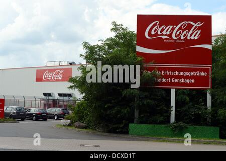 The Coca-Cola sign is pictured on company headquarters on Stralauer ...