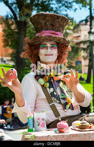Spain, Street Performer in Madrid - Stock Photo