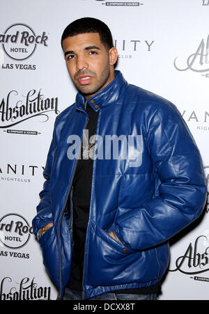 Drake  Rapper Drake hosts After Concert Party at Vanity Nightclub at Hard Rock Hotel and Casino  Las Vegas, Nevada - Stock Photo
