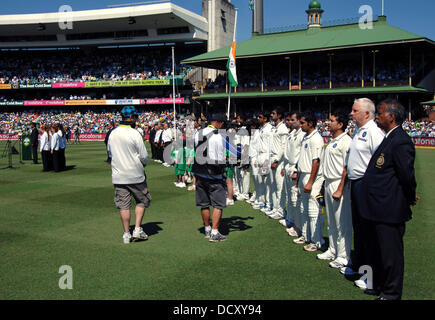 Indian Cricket team Second Test Match between Australia vs.India at the Sydney Cricket Ground - Day 1  Sydney, Australia - Stock Photo