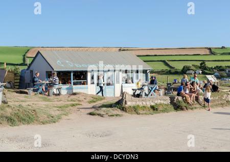 Beach House Cafe at South Milton Sands near Thurlstone in Devon - Stock Photo