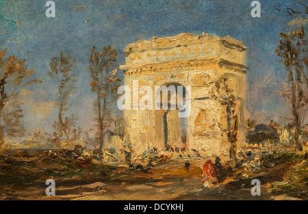 Arc de Triomphe - Félix Ziem - Petit Palais / Musée des Beaux-Arts de la Ville de Paris oil on canvas - Stock Photo