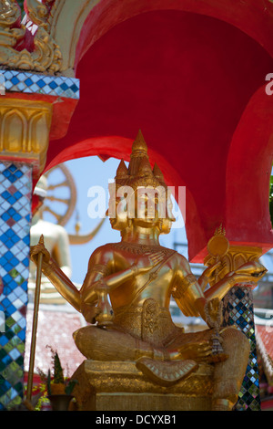 Buddha statues at Wat Plai Laem on Ko Samui Island in the Gulf of Thailand. - Stock Photo