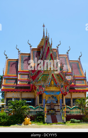 A temple at Wat Plai Laem on Ko Samui Island in the Gulf of Thailand. - Stock Photo