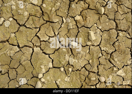 Dry cracking clay soil pattern stock photo royalty free image river bed with dry and cracked mud depicting drought situation stock photo sciox Images