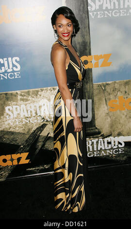 Cynthia Addai-Robinson Premiere of Starz' 'Spartacus: Vengeance'  held at the ArcLight Cinemas Cinerama Dome Los - Stock Photo