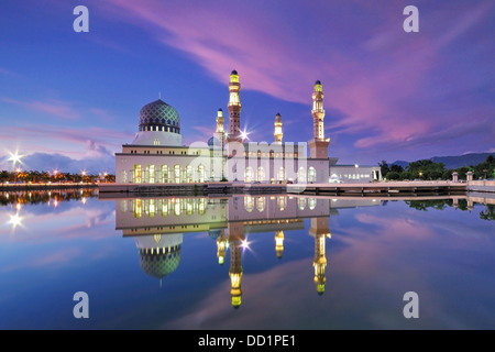 Kota Kinabalu Floating Mosque - Stock Photo