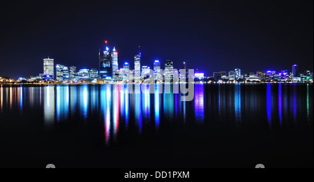Perth Skyline and Reflection, Western Australia. - Stock Photo