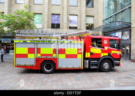 Scottish Fire and Rescue Service Fire Appliance, Scotland, UK - Stock Photo