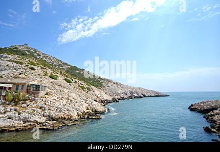 calanques Marseille Bouches-du-Rhone Provence Cote d(Azur France - Stock Photo