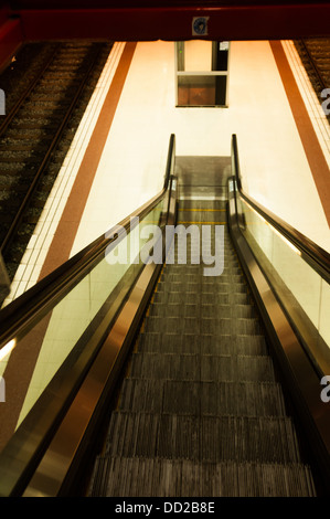 ... Moving Staircase At An Airport   Stock Photo