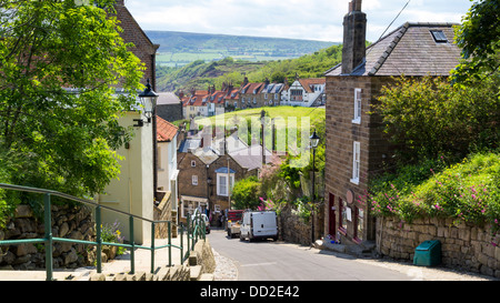 Street at Robin Hood's Bay North Yorkshire England UK Europe - Stock Photo