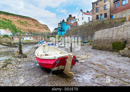 Boats at Staithes Yorkshire England UK Europe - Stock Photo