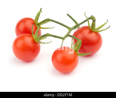 Fresh cherry tomatoes cut out isolated on white background - Stock Photo
