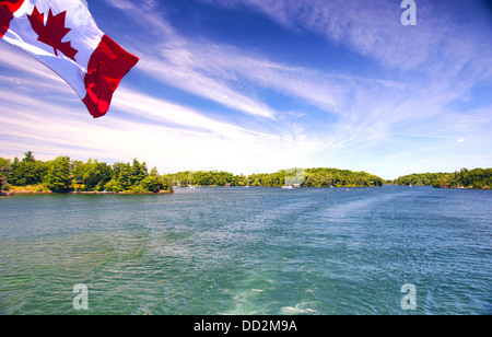 Lake Ontario Saint Lawrence river and Thousand Islands National Park Canada - Stock Photo