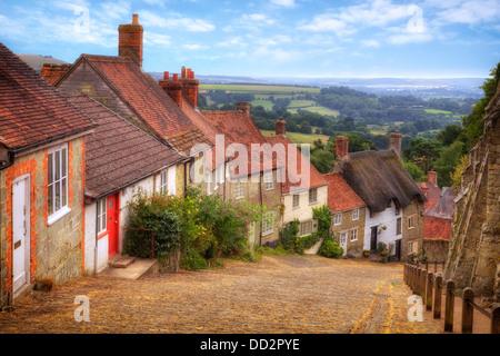 Shaftesbury, Gold Hill, Dorset, England, United Kingdom - Stock Photo