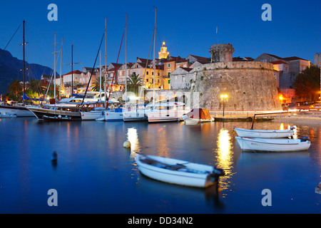 Korcula town, Croatia - Stock Photo