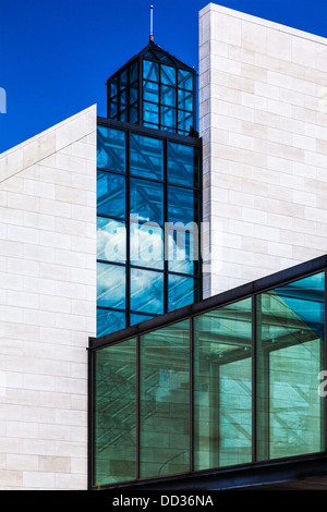 The Musée d'art moderne Grand-Duc Jean or MUDAM Museum of Modern Art in the Kirchberg district of Luxembourg City. - Stock Photo