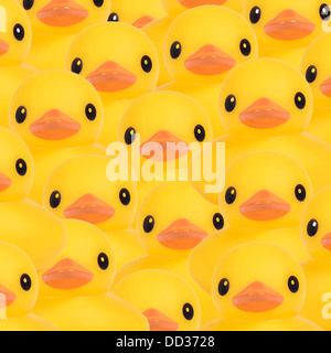 Yellow rubber ducks montage - Stock Photo