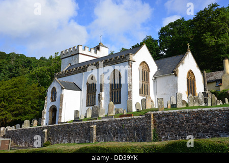 15th-century Church of All Saints, Selworthy, Somerset, England, United Kingdom - Stock Photo
