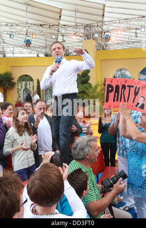 Stefan Mross is pictured at the live broadcast of the program 'Immer Wieder Sonntags' by broadcaster ARD at Europapark - Stock Photo