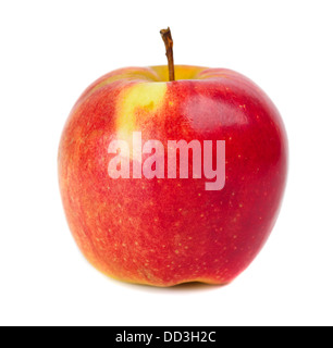 red apple isolated over white - Stock Photo