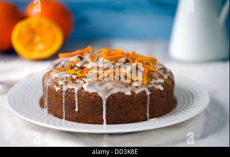 Carrot and orange cake - Stock Photo